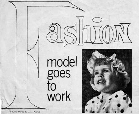 Fashion Model Goes to Work