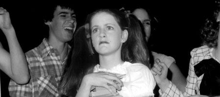 the author in 1978, in a school play