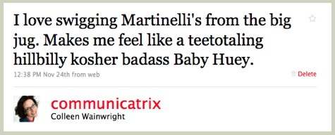 Twitter _ Colleen Wainwright_ I love swigging Martinelli ...