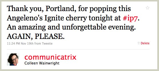 Twitter _ Colleen Wainwright_ Thank you, Portland, for p ...